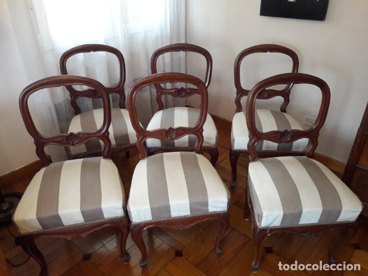juego de seis sillas de comedor - Kaufen Antike Stühle in ...