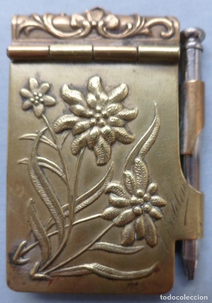 Antigüedades: ANTIGUO COLGANTE CARNET DE BAILE - PRINCIPIO S. XX - Foto 3 - 147585022