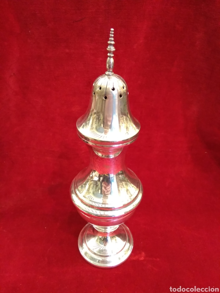 Antigüedades: Azucarero inciensario de metal plateado - Foto 2 - 147590581