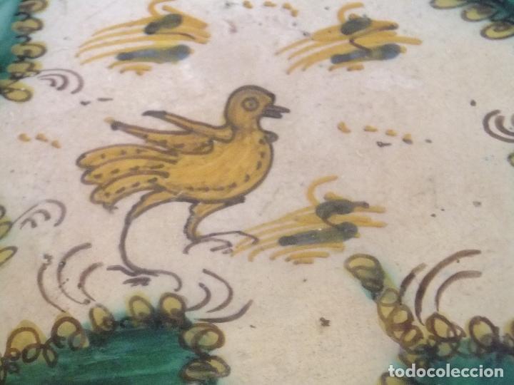 Antigüedades: Salvilla frutero o plato cerámica Puente Arzobispo ( Toledo ) s. XIX - Foto 2 - 147592474