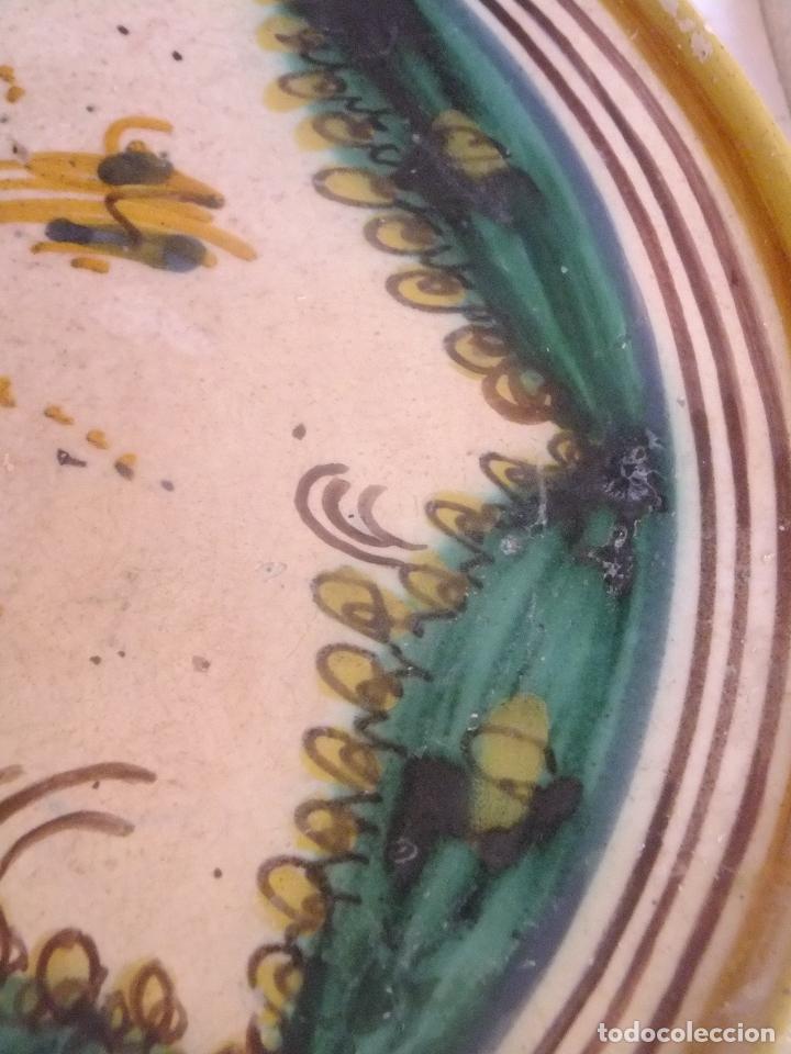Antigüedades: Salvilla frutero o plato cerámica Puente Arzobispo ( Toledo ) s. XIX - Foto 3 - 147592474