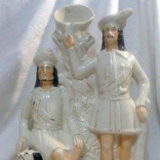Antigüedades: STAFFORDSHIRE.- ROBIN HOOD. INTERESANTE FIGURA DE ÉPOCA VICTORIANA.. Lote 147594818