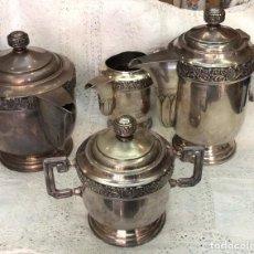 Antigüedades: ANTIGUO JUEGO DE CAFÉ ,ÉPOCA MODERNISTA . Lote 147602250