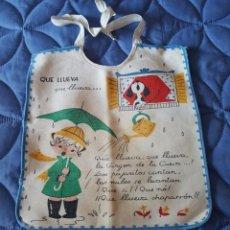 Antigüedades: == LA90- BONITO BABERO - QUE LLUEVA, QUE LLUEVA ..... Lote 147615030