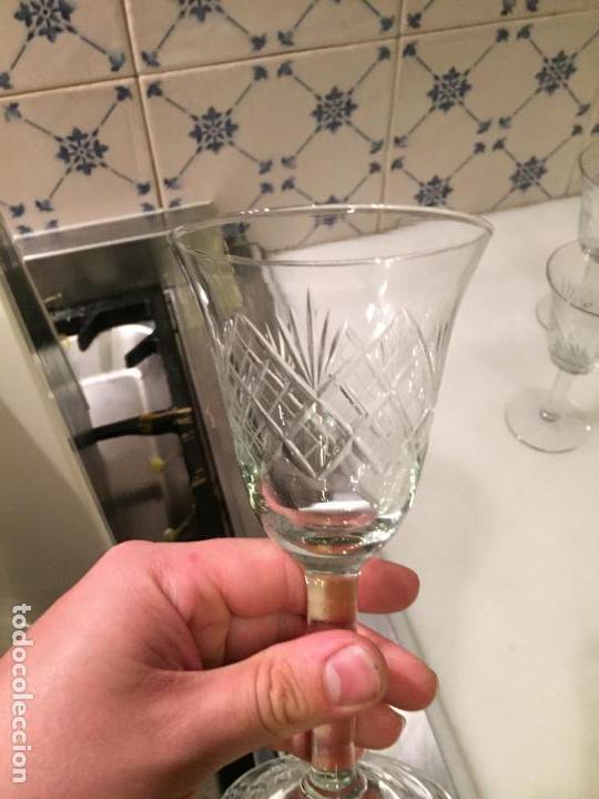 Antigüedades: Antiguas 6 copa / copas de cristal tallado a mano de los años 30-40 - Foto 11 - 147632730