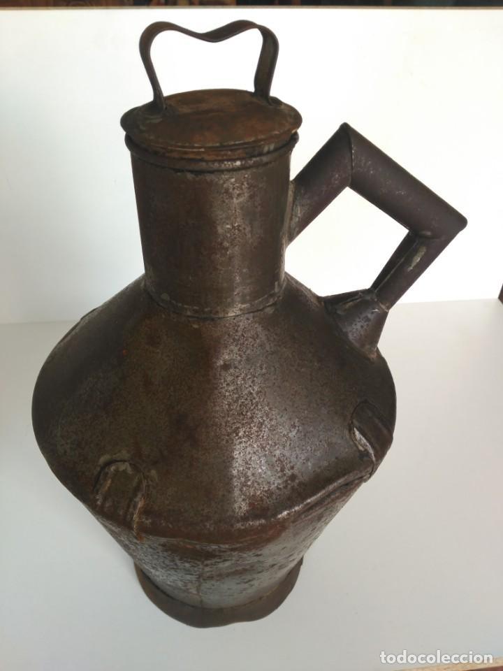 ANTIGUA ZAFRA O CANTARA PARA ACEITE (Antigüedades - Técnicas - Rústicas - Agricultura)