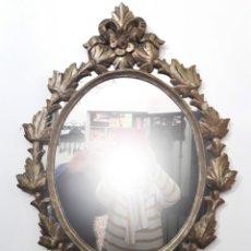 Antigüedades: ANTIGUO ESPEJO EN MADERA TALLADA. Lote 147649426