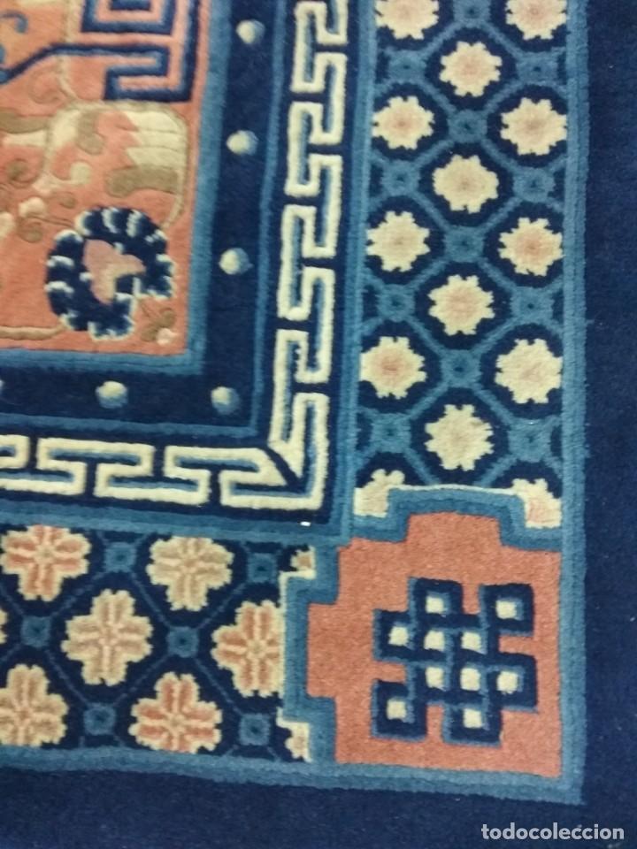 Antigüedades: ESPECTACULAR ALFOMBRA CHINA - HECHA A MANO - CA. 1920 - 250X150 CM - LUJO (+1500€) - Foto 5 - 152582844