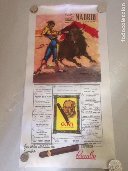 CARTEL TAURINO - PLAZA DE TOROS MADRID - FIESTA S ISIDRO 1964 (Antigüedades - Varios)