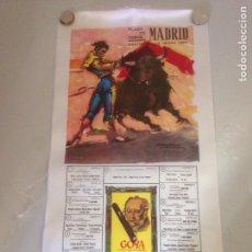 Antigüedades: CARTEL TAURINO - PLAZA DE TOROS MADRID - FIESTA S ISIDRO 1964. Lote 147655478