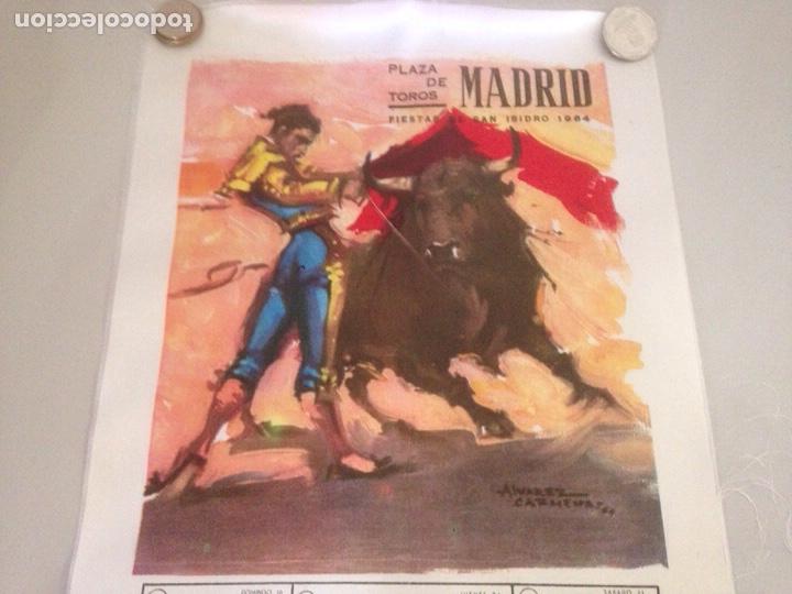 Antigüedades: CARTEL TAURINO - PLAZA DE TOROS MADRID - FIESTA S ISIDRO 1964 - Foto 3 - 147655478