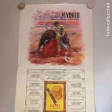 Antigüedades: CARTEL TAURINO - PLAZA DE TOROS MADRID - FIESTA DE S ISIDRO 1962. Lote 154723686