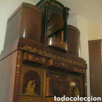 Antigüedades: ---- EXCLUSIVO MUEBLE ESTILO BIEDERMEIER, CON PRECIOSA MARQUETERIA. 1.980 - Foto 5 - 147663409