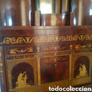 Antigüedades: ---- EXCLUSIVO MUEBLE ESTILO BIEDERMEIER, CON PRECIOSA MARQUETERIA. 1.980 - Foto 6 - 147663409