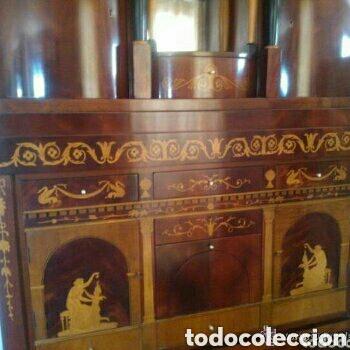 Antigüedades: ---- EXCLUSIVO MUEBLE ESTILO BIEDERMEIER, CON PRECIOSA MARQUETERIA. 1.980 - Foto 7 - 147663409