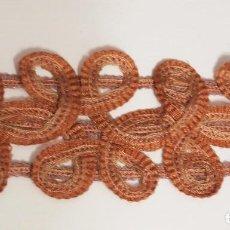 Antigüedades: ANTIGUA PASAMANERÍA 5 METROS, 6,5 CM ANCHO. ART DECÓ. Lote 147685998