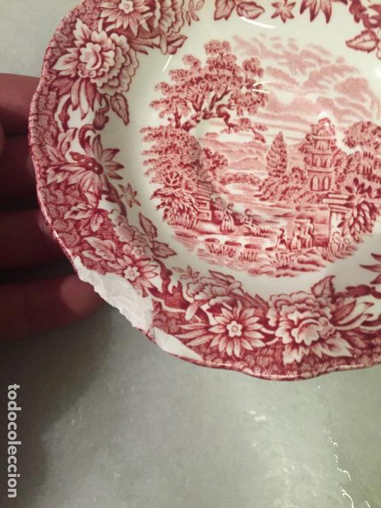 Antigüedades: Antiguo pequeño plato de café de pocelana Inglesa años 40-50 - Foto 2 - 147703298
