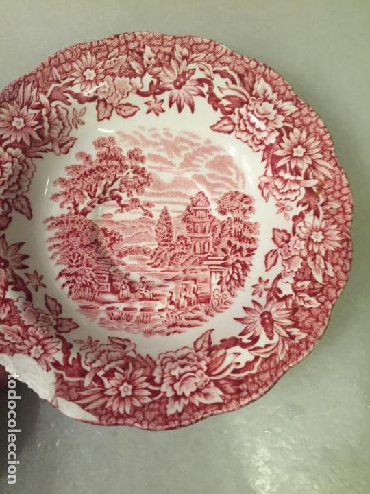 Antigüedades: Antiguo pequeño plato de café de pocelana Inglesa años 40-50 - Foto 3 - 147703298