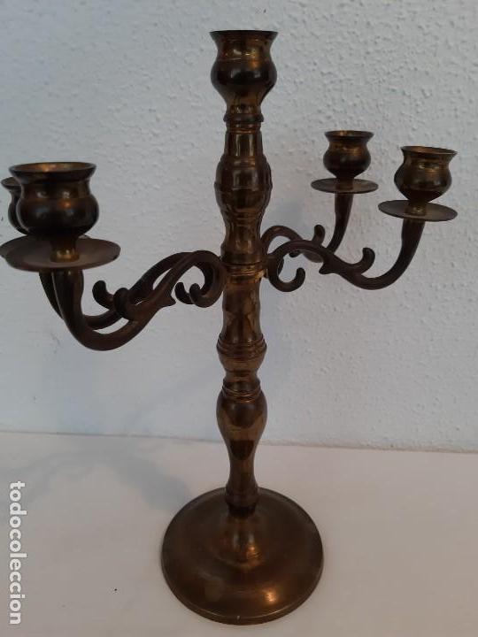 Antiquitäten: PRECIOSO CANDELABRO SE ABRE SE CIERRA EN BRONCE - Foto 2 - 147703874