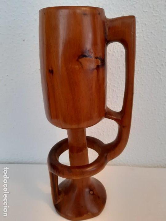 PRECIOSA Y RARA COPA DE MADERA (Antigüedades - Hogar y Decoración - Copas Antiguas)