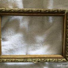 Antigüedades: MARCO DE MADERA Y ESTUCO, PEQUEÑO. SIGLO XIX. Lote 147716766