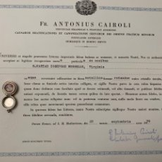 Antigüedades: RELIQUIA RELICARIO RELIC RELIQUARY SANTA MARIA JOSEFA ROSELLO. Lote 147725910