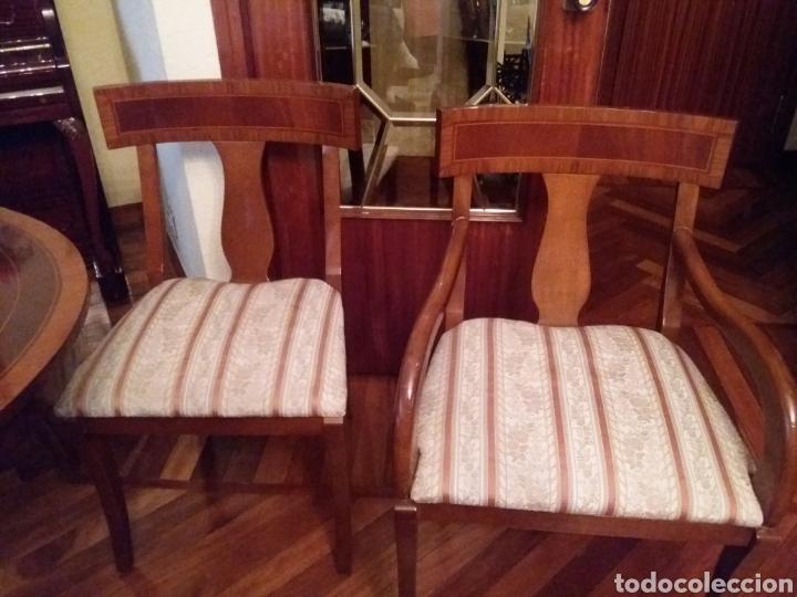Antigüedades: Mesa comedor y 6 sillas - Foto 2 - 147727061