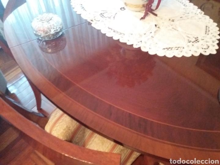 Antigüedades: Mesa comedor y 6 sillas - Foto 6 - 147727061