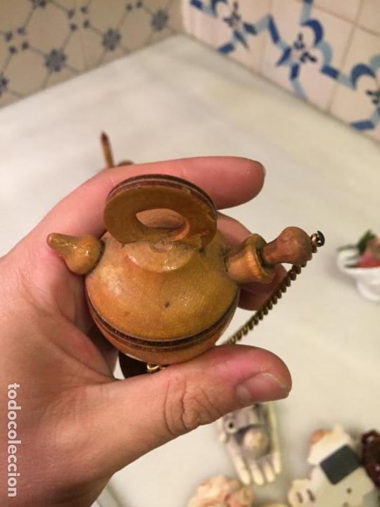 Antigüedades: Antigua figura / figuras de madera torneada de vela y botijo Estany de Banyoles de los años 60-70 - Foto 4 - 147739854