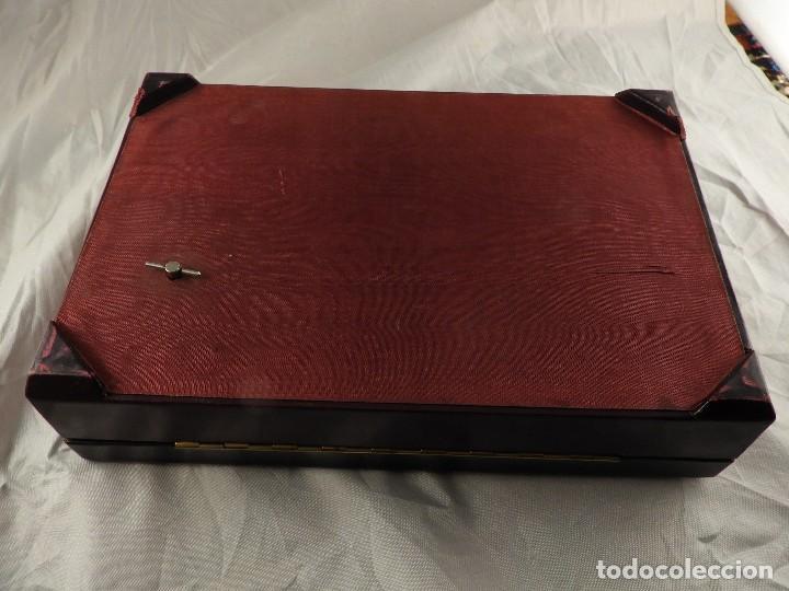 Antigüedades: BONITA CAJA DE TABACO CON MUSICA A CUERDA - Foto 10 - 147741754