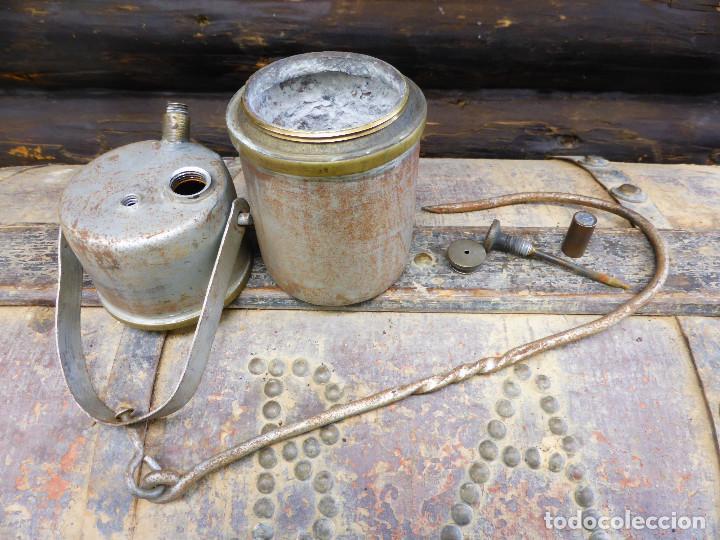 Antigüedades: LÁMPARA DE ACETILENO (CARBURO )MINA, MINERIA. - Foto 3 - 147743466