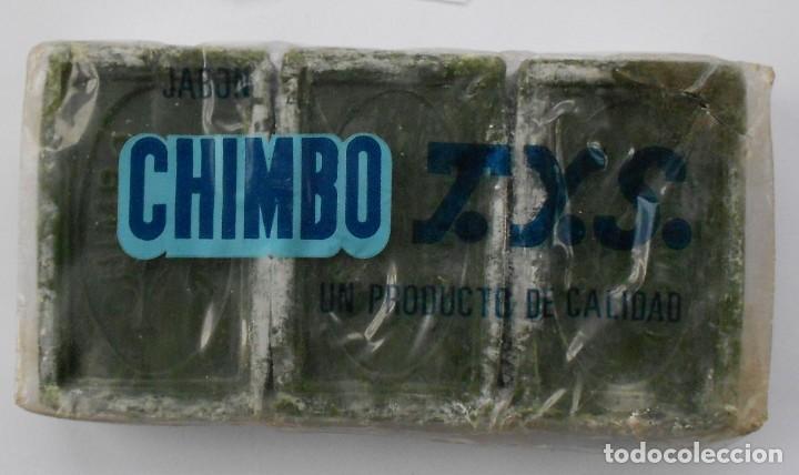 Antigüedades: ANTIGUO PAQUETE CON 3 PASTILLAS JABON CHIMBO T.Y.S.(BILBAO) - Foto 3 - 147744230