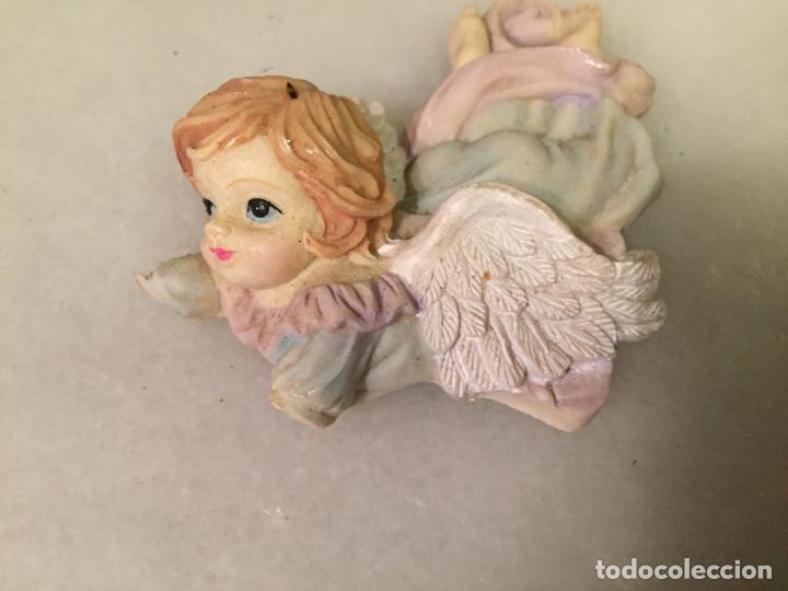 Antigüedades: Antiguo iman de nevera figura de Angel Angelito de los años 70-80 - Foto 2 - 147744702