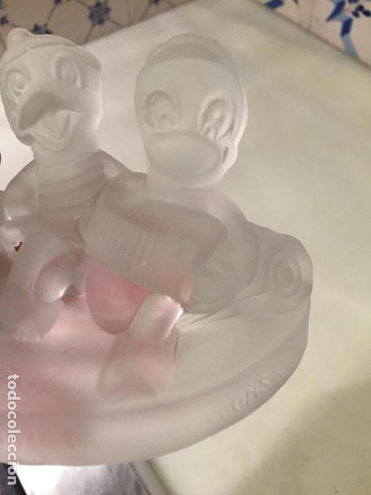 Antigüedades: Antigua figura de cristal prensado de Walt Disney Jaimito Juanito y Jorgito años 60-70 - Foto 5 - 147748770