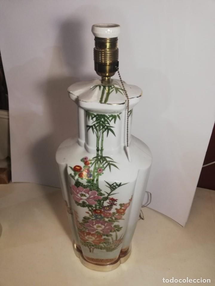 Antigüedades: PAREJA DE LAMPARAS SOBREMESA EN PORCELANA - Foto 2 - 147751822