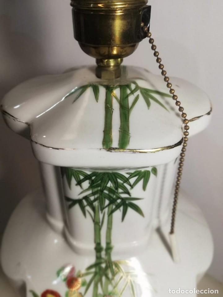 Antigüedades: PAREJA DE LAMPARAS SOBREMESA EN PORCELANA - Foto 6 - 147751822