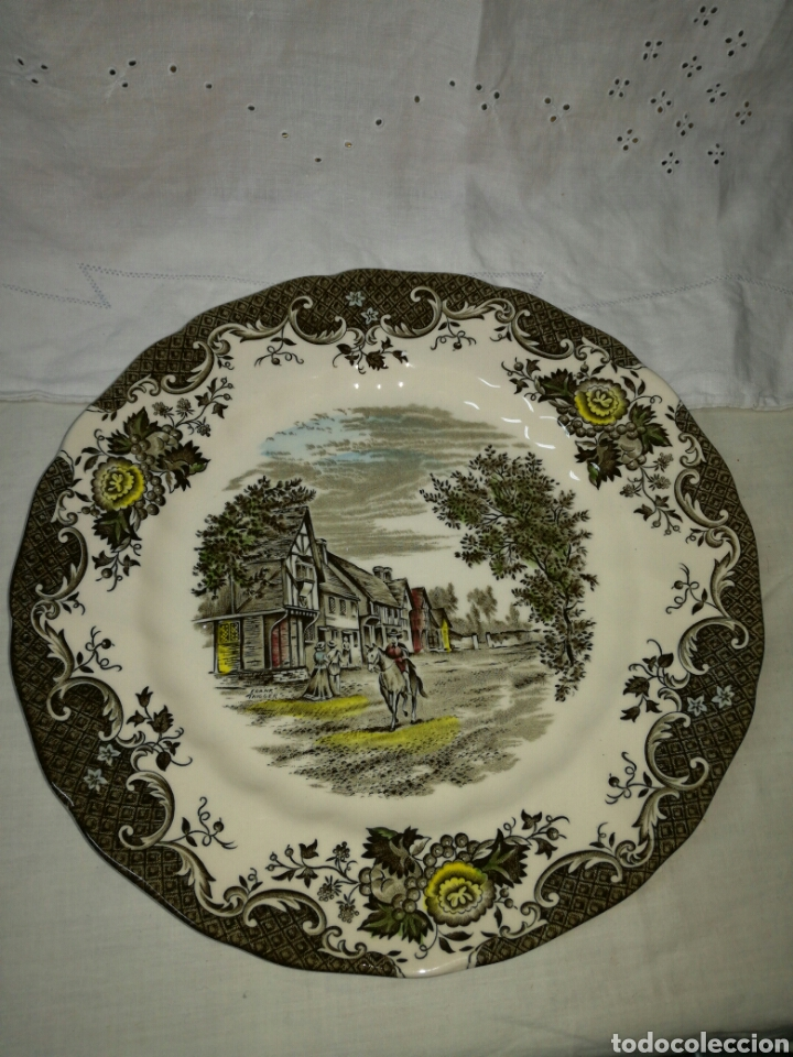 PLATO ROMANTIC ENGLAND CHIDDINGSTONE KENT (Antigüedades - Porcelanas y Cerámicas - Inglesa, Bristol y Otros)