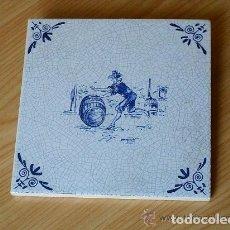 Antigüedades: AZULEJO HOLANDES TIPO DELFT. Lote 147754782