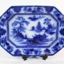Antigüedades: PRECIOSA BANDEJA 1845 W ADAMS AND SONS SERIE TONQUIN, FLOW BLUE.. Lote 147757278