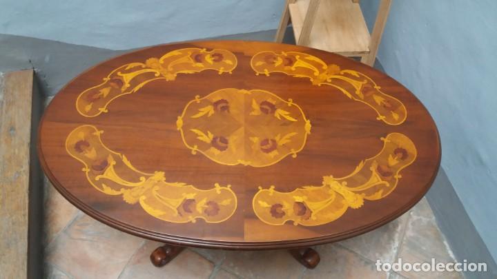 Antigüedades: Mesa centro con taracea - Foto 2 - 147758750