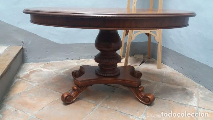 Antigüedades: Mesa centro con taracea - Foto 4 - 147758750