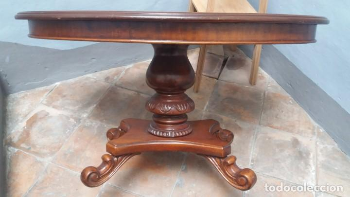 Antigüedades: Mesa centro con taracea - Foto 5 - 147758750