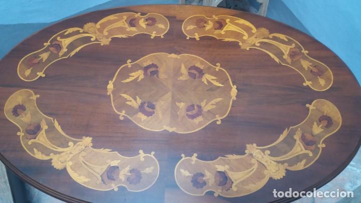 Antigüedades: Mesa centro con taracea - Foto 6 - 147758750