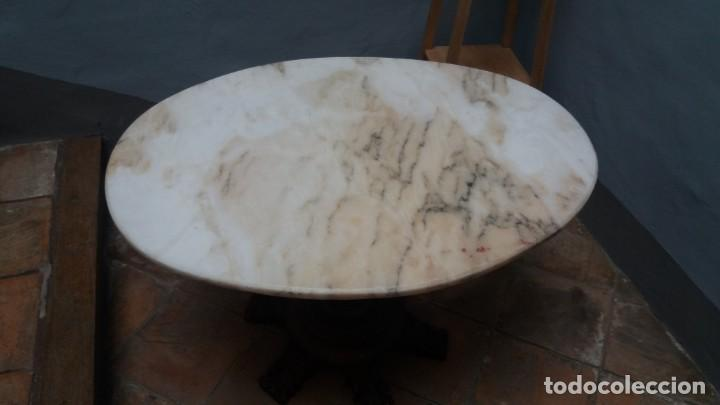 Antigüedades: Mesa ovalada con tapa de marmol - Foto 2 - 147760674