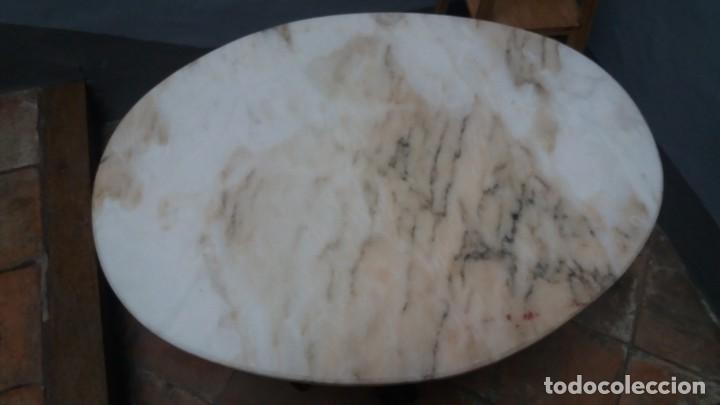 Antigüedades: Mesa ovalada con tapa de marmol - Foto 4 - 147760674