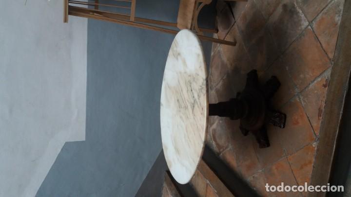 Antigüedades: Mesa ovalada con tapa de marmol - Foto 6 - 147760674