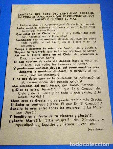 FOLLETO: CRUZADA DEL REZO DEL SANTISIMO ROSARIO EN TODA ESPAÑA PARA QUE SE CONVIERTAN LOS IMPIOS (Antigüedades - Religiosas - Varios)