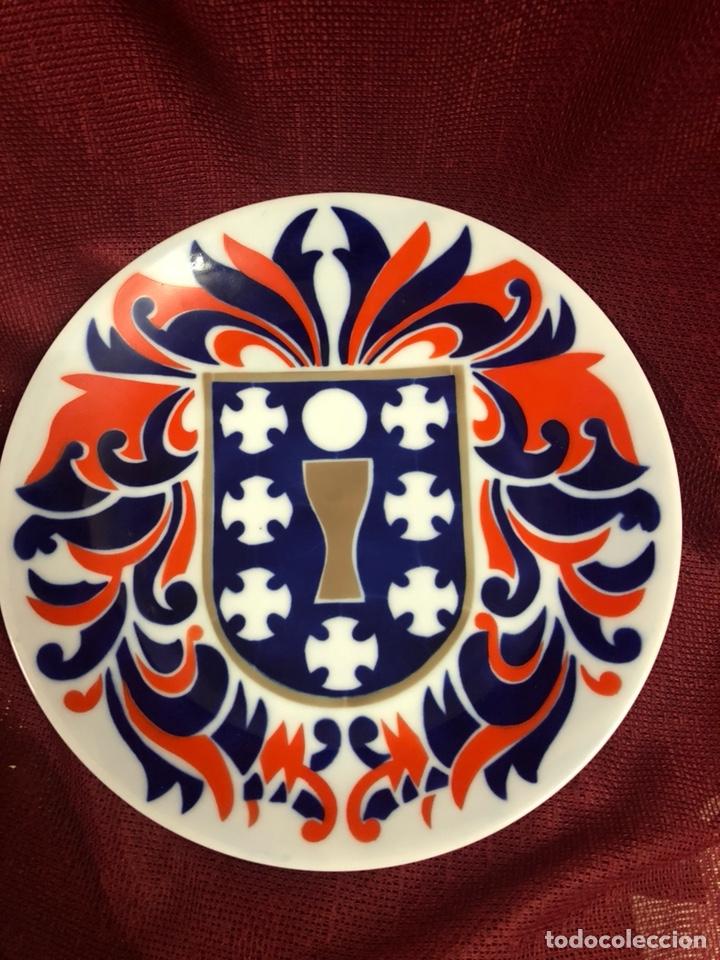 PLATO DE CERÁMICA CASTRO SARGADELOS ESCUDO GALICIA (Antiquitäten - Porzellan und Keramik - Sargadelos)