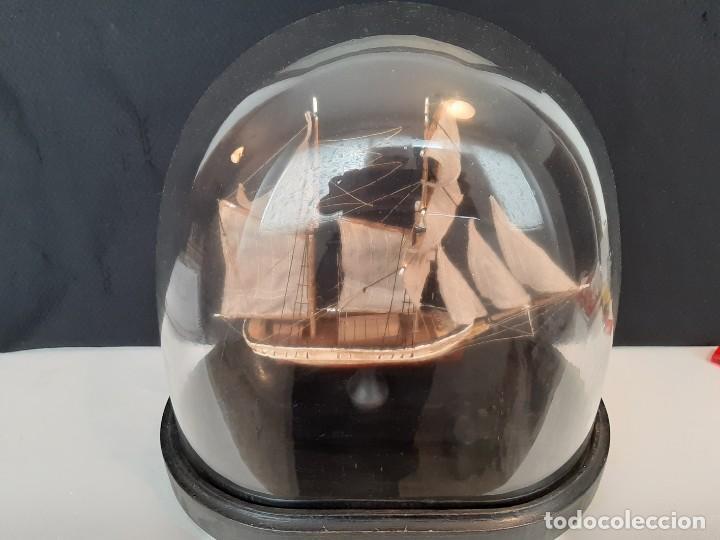 Antiquitäten: BARCO SOBRE PEANA CON FANAL OVALADO DE CRISTAL - Foto 4 - 147769074