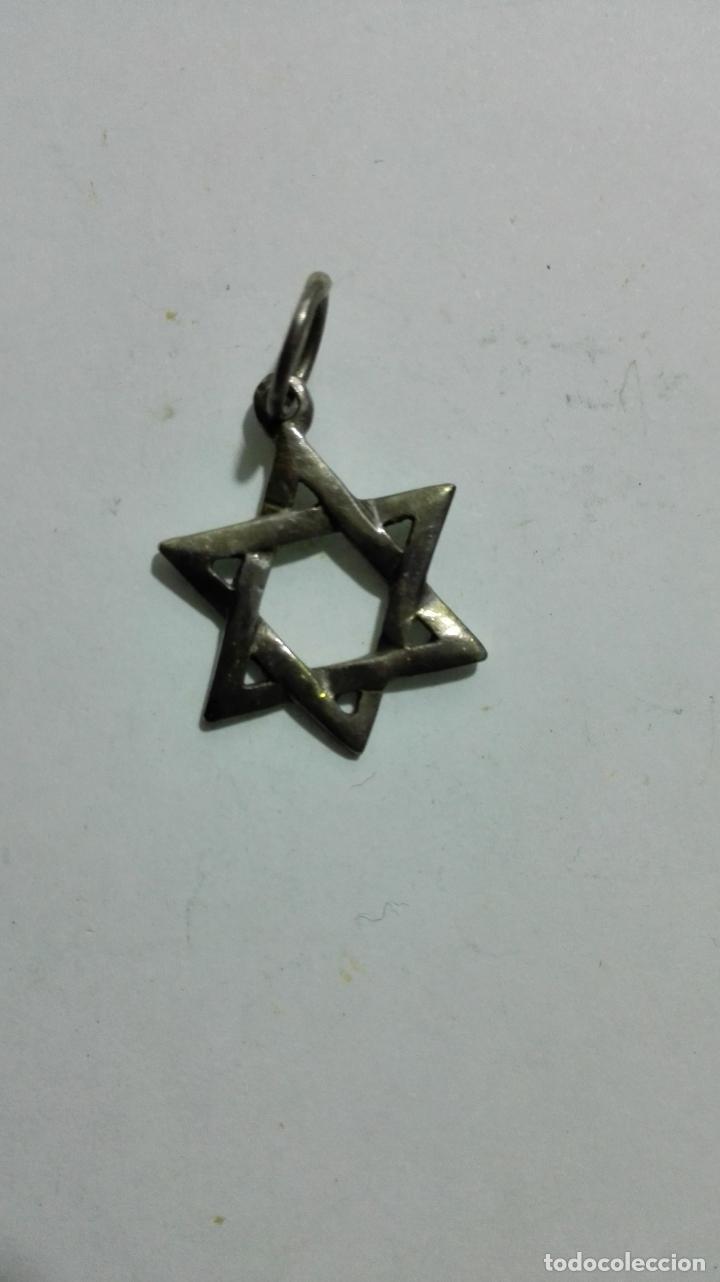 COLGANTE ESTRELLA DE DAVID (Antigüedades - Religiosas - Medallas Antiguas)
